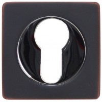 Накладка на цилиндр ET02BL черный/хром