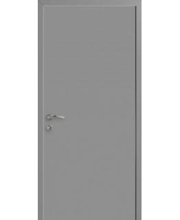 Дверь пластиковая КАПЕЛЬ серая RAL-7040
