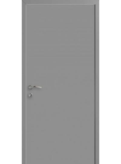 Дверной блок КАПЕЛЬ серый RAL-7040 пластиковый с Телескопической коробкой