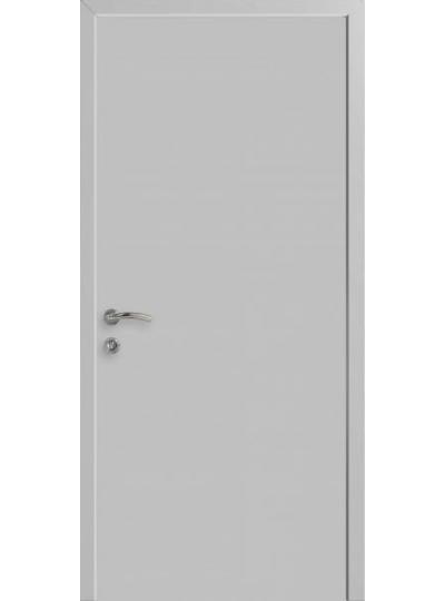 Дверь пластиковая КАПЕЛЬ серая RAL-7035