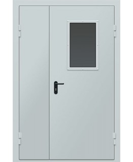 ДПМО-2 Дверь противопожарная металлическая двустворчатая EI-60 мин