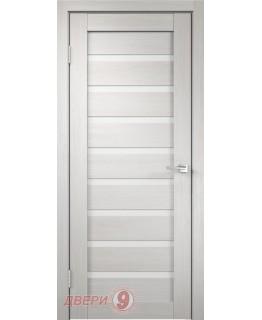 Дверь Дуплекс 8, Duplex, Дуб белый, стекло лакобель белое