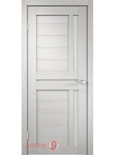 Дверь Дуплекс 3, Duplex, Дуб белый, стекло лакобель белое