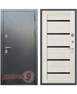 Дверь металлическая РЕКС 5А Антик Серебро/Сандал белый СБ-14