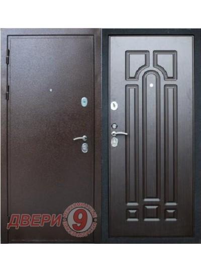 Дверь металлическая ПРЕСТИЖ Медный антик / Венге