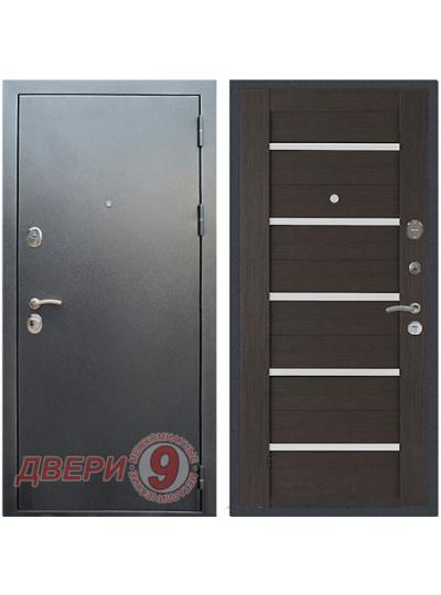 Дверь металлическая РЕКС 5А Антик Серебро/Венге СБ-14