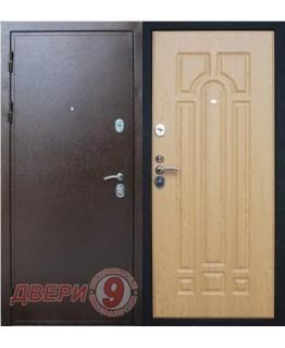 Дверь металлическая ПРЕСТИЖ Медный антик / Дуб натуральный