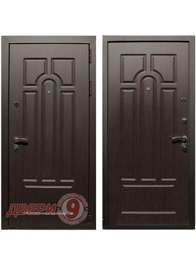 Дверь металлическая ЭВРИКА венге