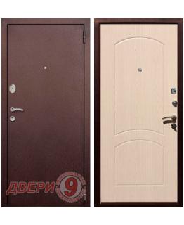Дверь металлическая РЕКС 1А Медный антик/ Беленый дуб