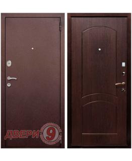 Дверь металлическая РЕКС 1А Медный антик/ Венге