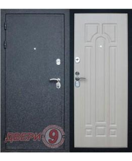 Дверь металлическая Верона -16 ПРЕСТИЖ Черный крокодил / Беленый дуб