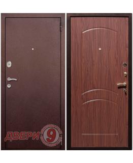 Дверь металлическая РЕКС 1А Медный антик/ Орех
